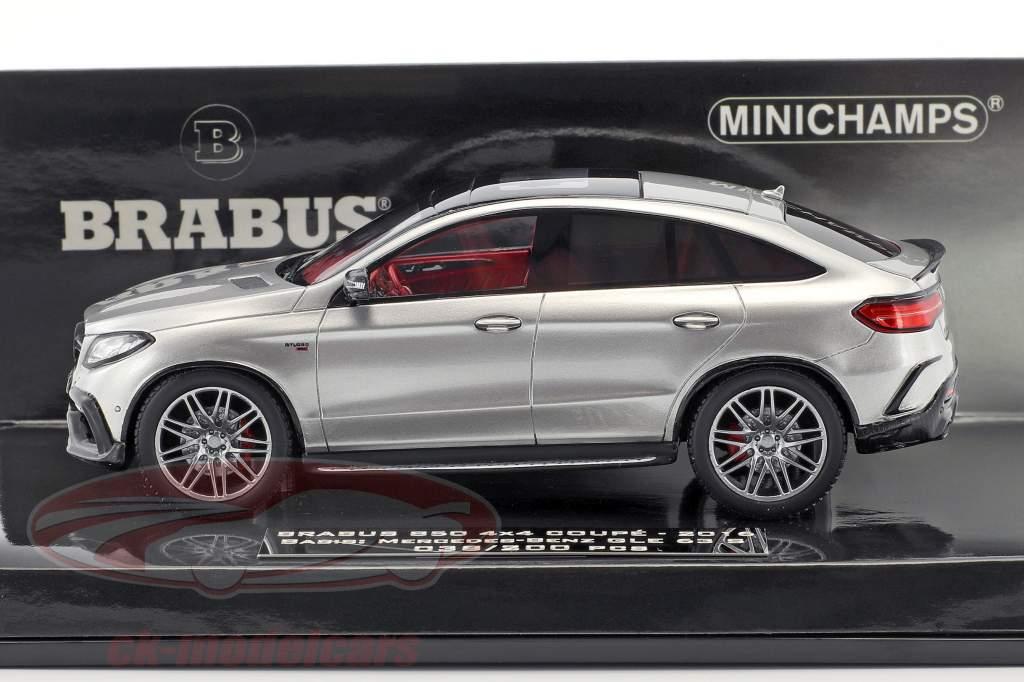 Brabus 850 4x4 Coupe auf Basis Mercedes-Benz AMG GLE 63 S Baujahr 2016 silber 1:43 Minichamps
