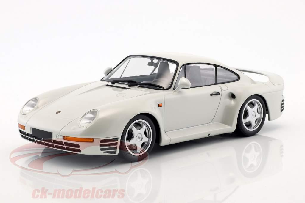Porsche 959 year 1987 white metallic 1:18 Minichamps