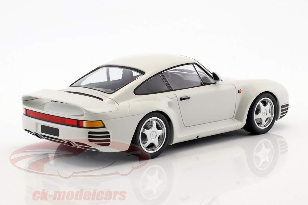 Porsche 959 año de construcción 1987 blanco metálico 1:18 Minichamps