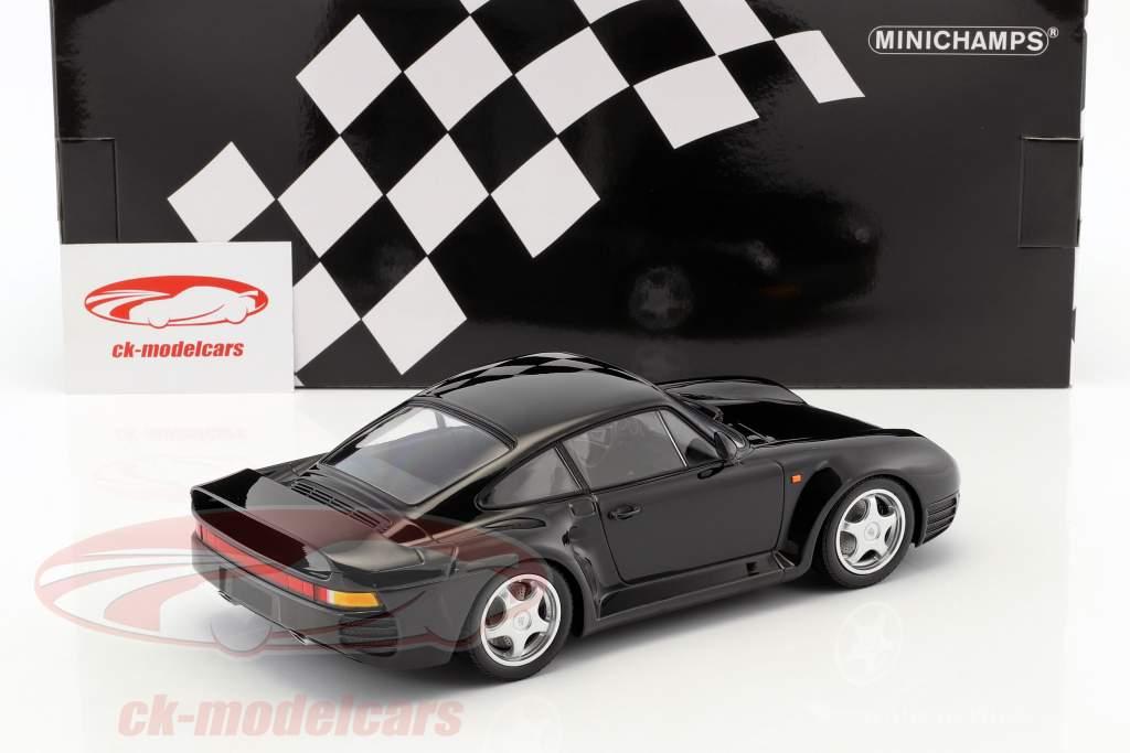 Porsche 959 année de construction 1987 noir 1:18 Minichamps