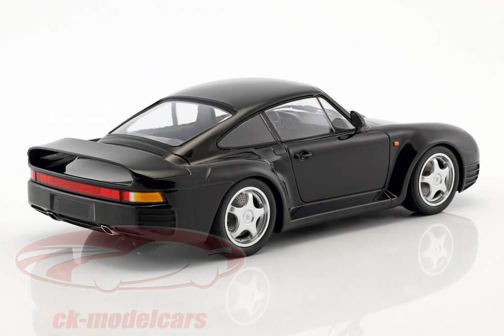 Porsche 959 anno di costruzione 1987 nero 1:18 Minichamps