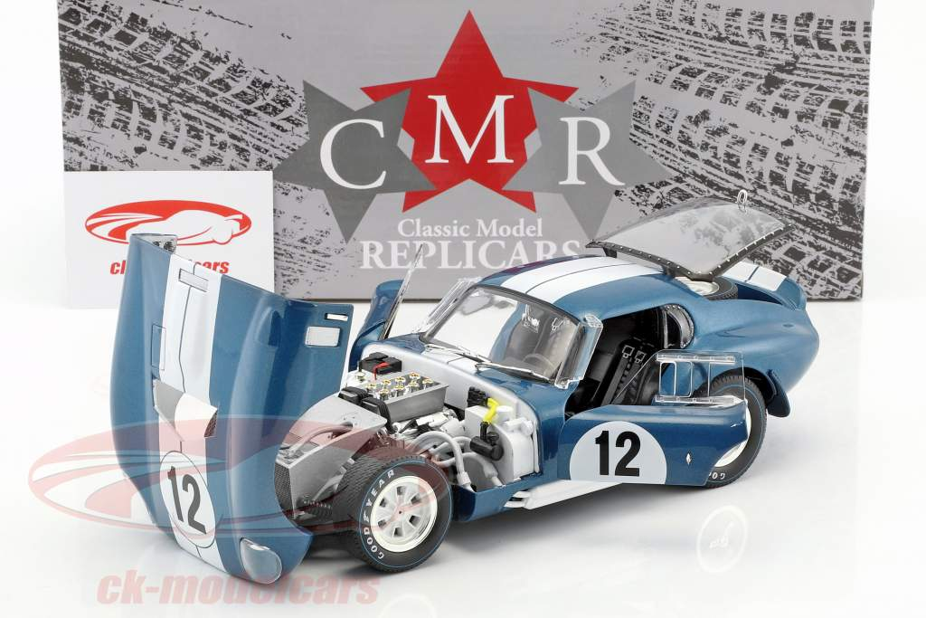 Shelby Cobra Daytona coupe #12 24h LeMans 1965 Schlesser, Grant 1:18 CMR