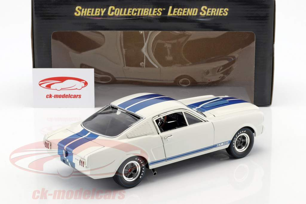 Ford Mustang Shelby GT350R year 1965 white / blue 1:18 ShelbyCollectibles