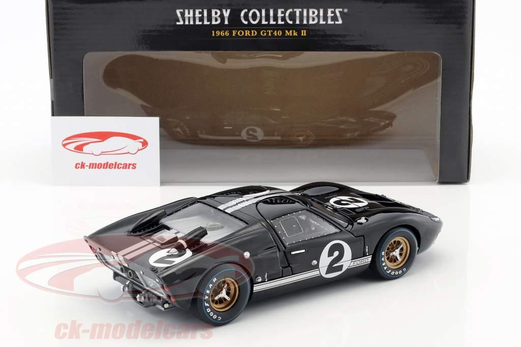 Ford GT-40 MK II #2 Winner 24h LeMans 1966 McLaren, Amon 1:18 ShelbyCollectibles