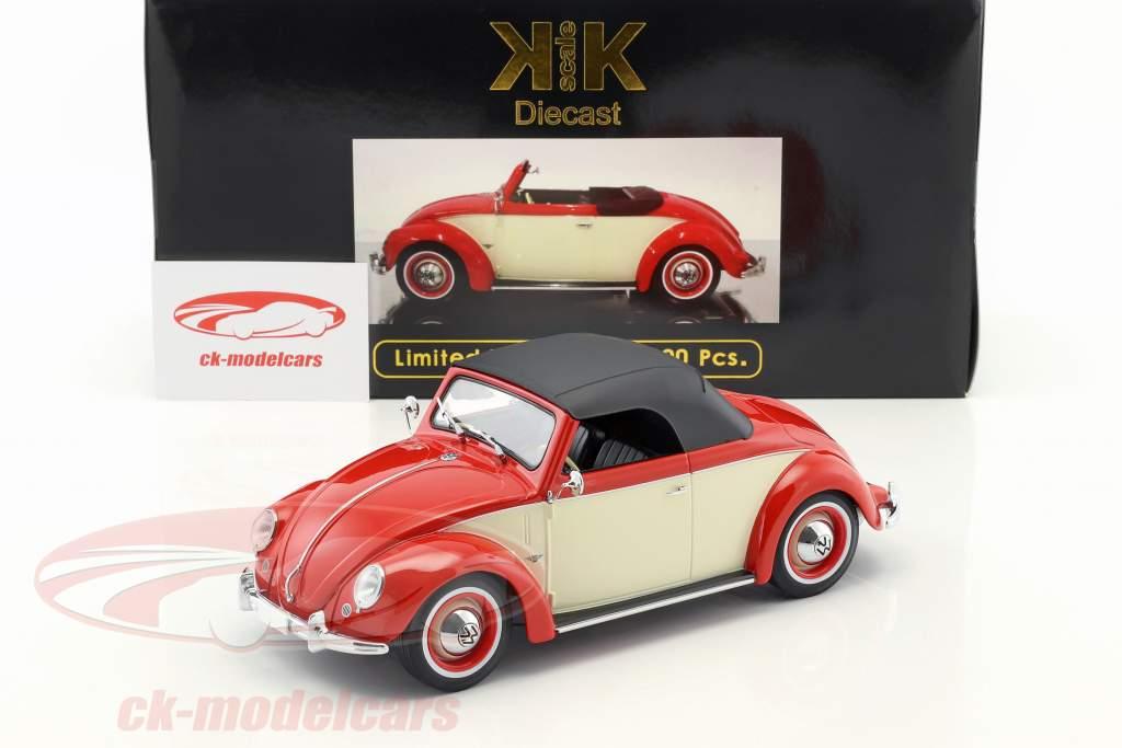 Volkswagen VW 1200 Hebmüller Cabriolet Year 1949 red / cream 1:18 KK-Scale