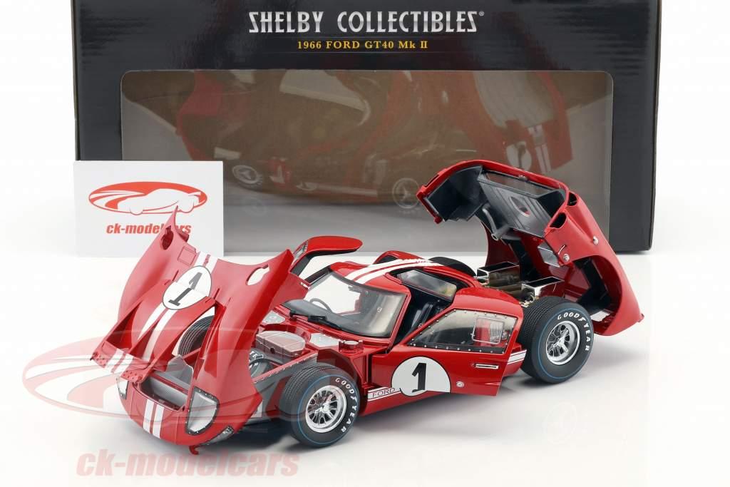 Ford GT-40 MK II #1 Vinder 12h Sebring 1966 Miles, Ruby 1:18 ShelbyCollectibles