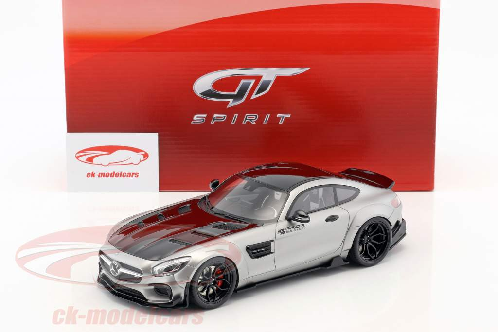 Mercedes-Benz AMG GT modified by Prior Design year 2015 satin silver 1:18 GT-Spirit