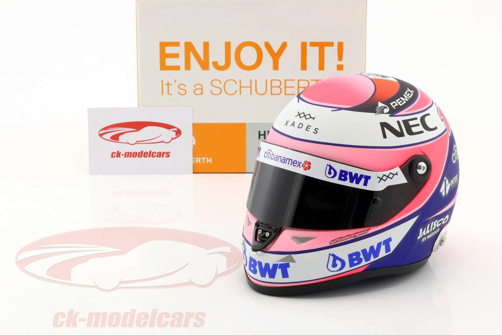 Sergio Perez Force India VJM11 #11 formula 1 2018 1:2 Schuberth