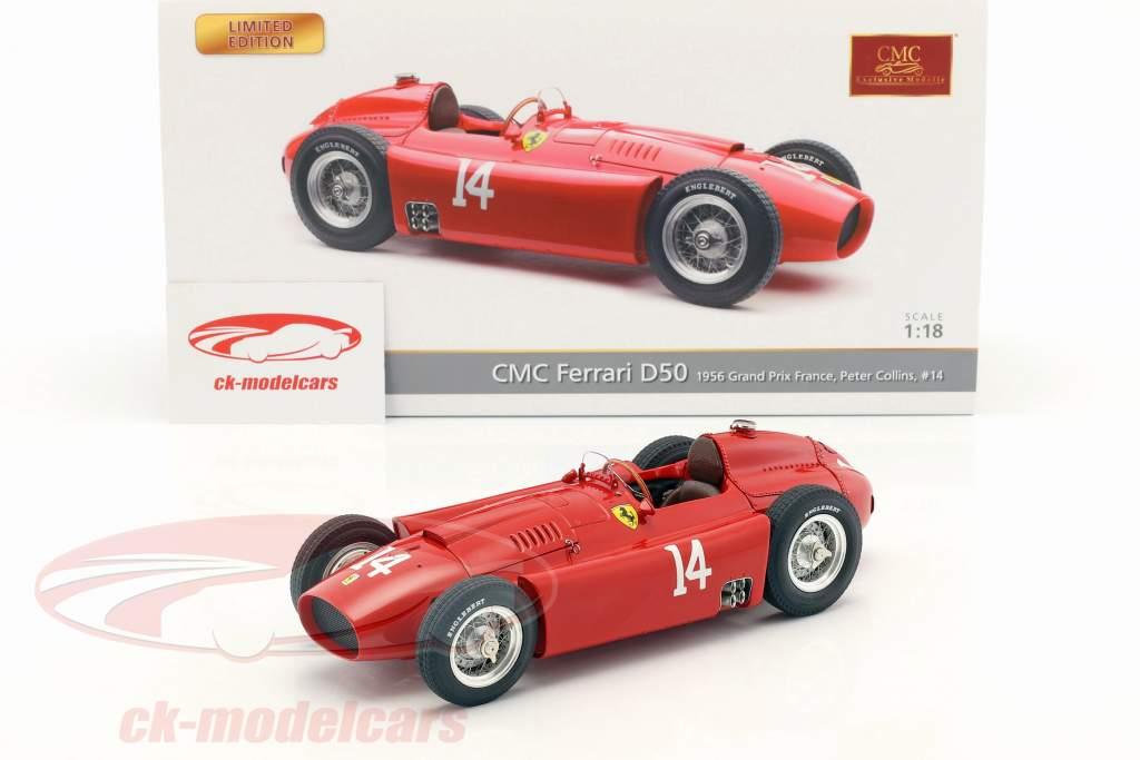 Peter Collins Ferrari D50 #14 胜利者 法国 GP 公式 1 1956 1:18 CMC