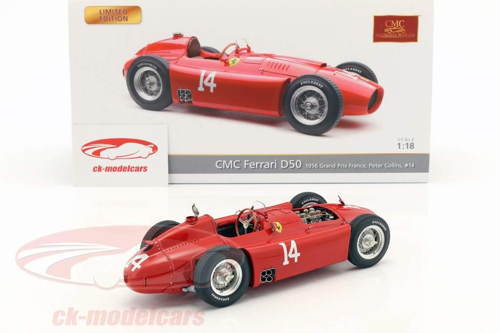 Peter Collins Ferrari D50 #14 vincitore francese GP formula 1 1956 1:18 CMC