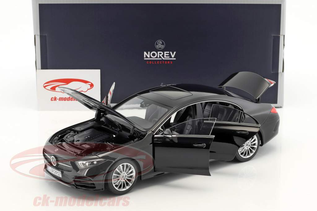 Mercedes-Benz CLS-Class coupe year 2018 black 1:18 Norev