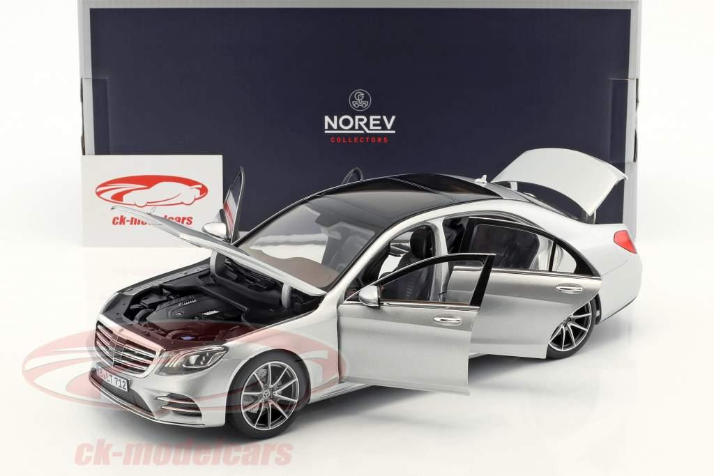 Mercedes-Benz S-Class AMG-Line année de construction 2018 argent métallique 1:18 Norev