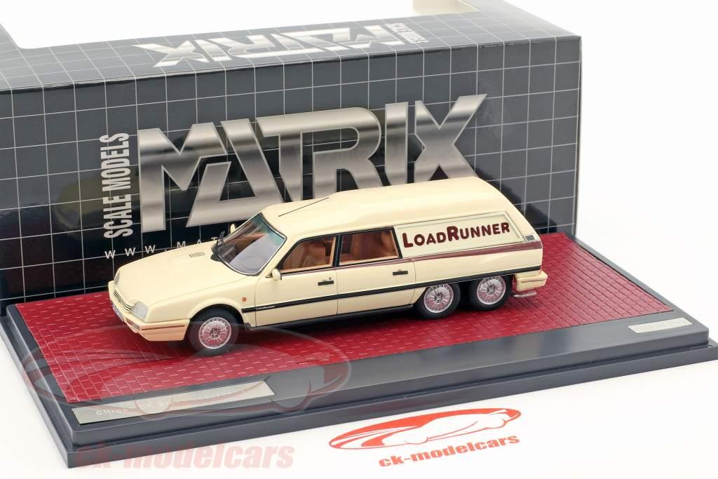 Citroen CX Break Loadrunner year 1989 beige 1:43 Matrix