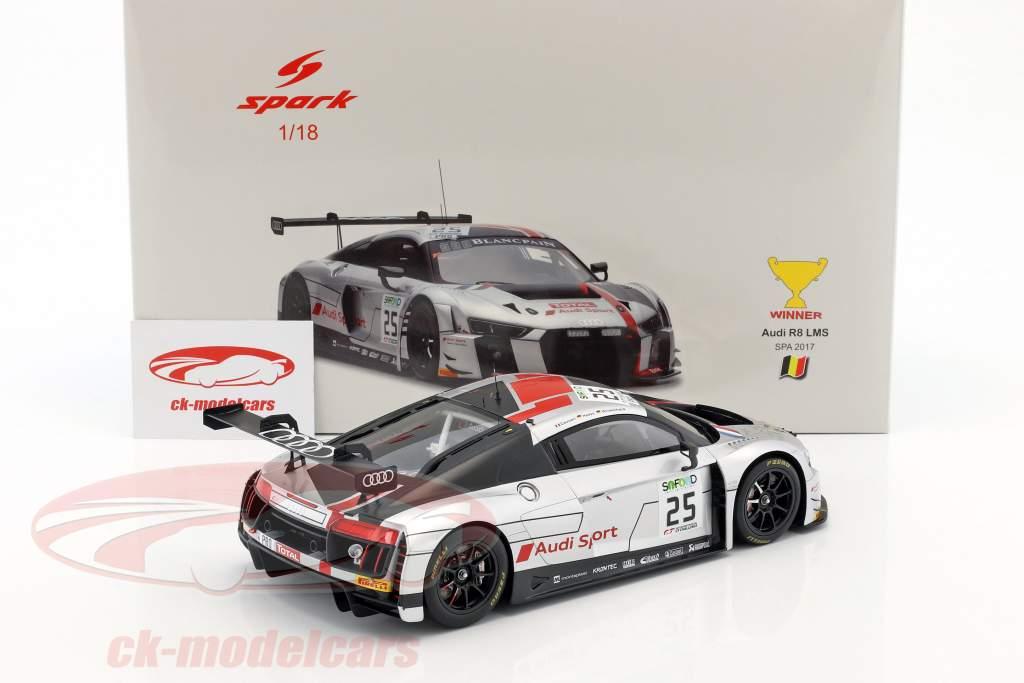 Audi R8 LMS #25 Winner 24h Spa 2017 Gounon, Winkelhock, Haase 1:18 Spark