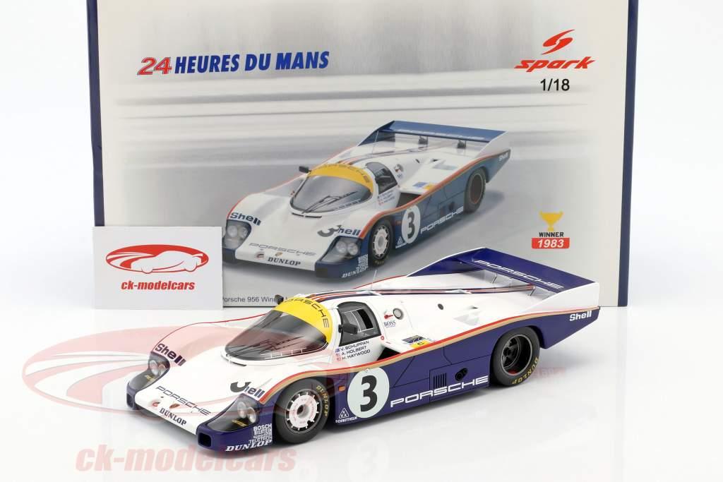 Porsche 956 #3 Winner 24h LeMans 1983 Schuppan, Haywood, Holbert 1:18 Spark
