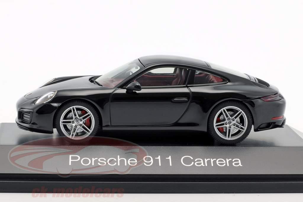 Porsche 911 (991 II) Carrera coupé noir 1:43 Herpa