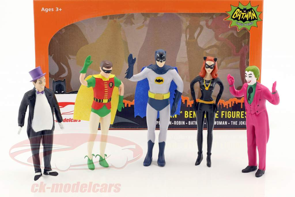 Batman bendable characters set Classic TV Serie Batman (1966) 5,5 inch NJCroce