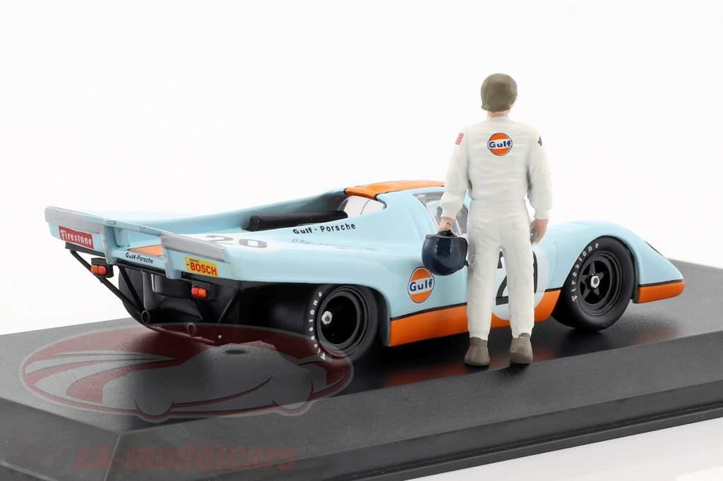 Gulf Porsche 917K #20 con Steve McQueen cifra gulf blu / arancione 1:43 Greenlight
