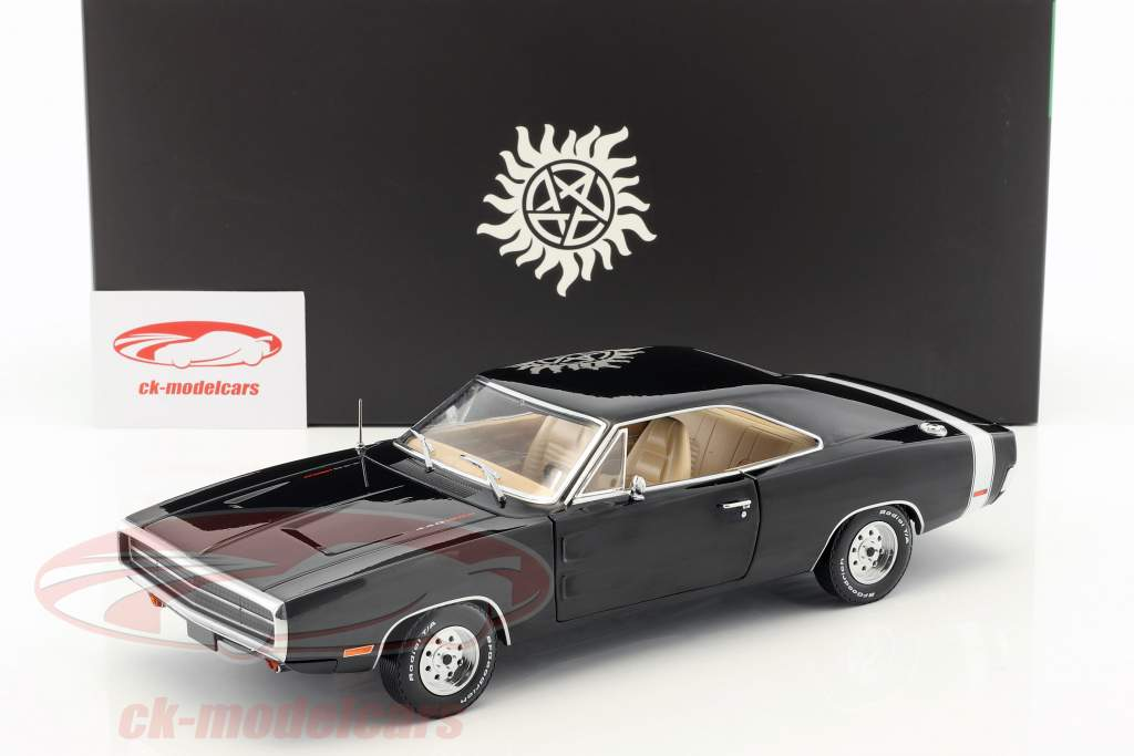 Dodge Charger Baujahr 1970 TV-Serie Supernatural (seit 2005) schwarz 1:18 Greenlight