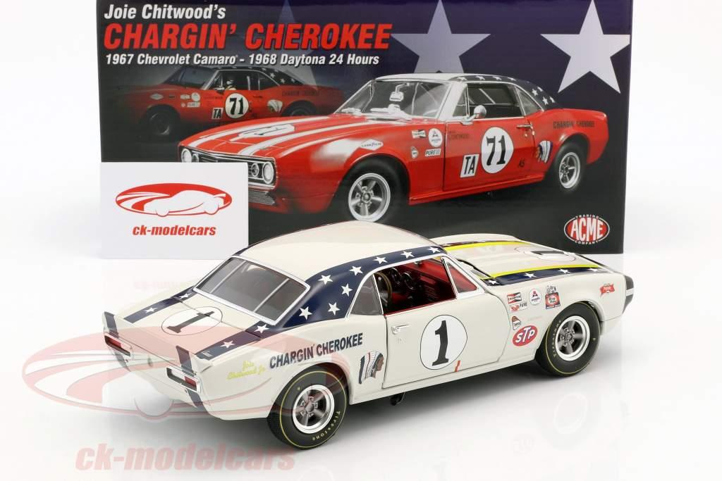 Chevrolet Camaro #1 ano de construção 1967 Joie Chitwood Chargin Cherokee branco 1:18 GMP