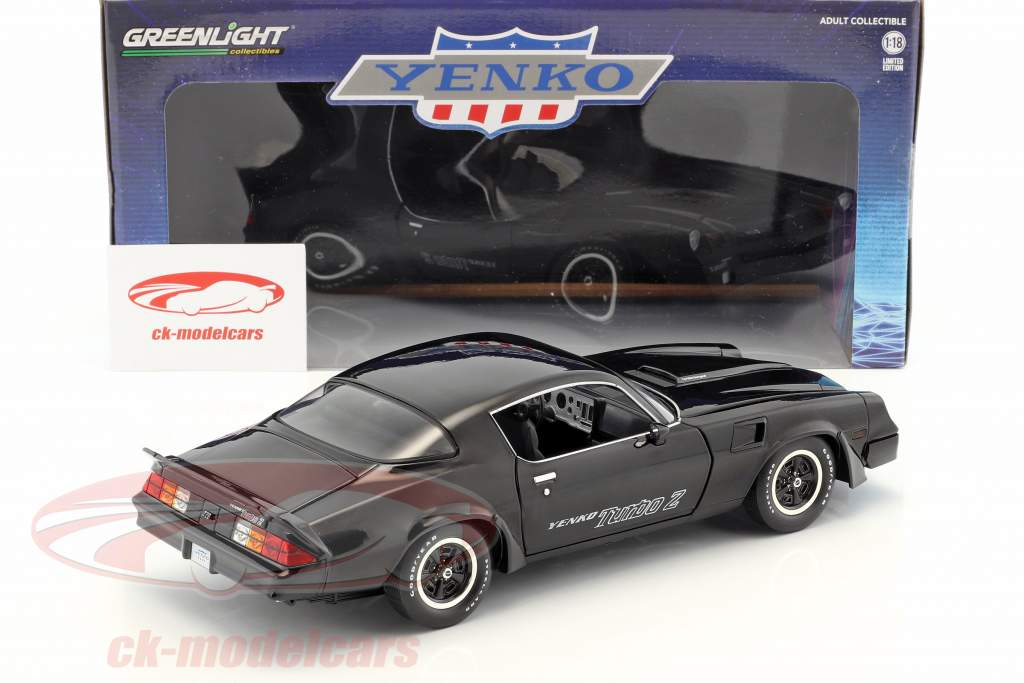 Chevrolet Z/28 Yenko Turbo Z year 1981 black 1:18 Greenlight