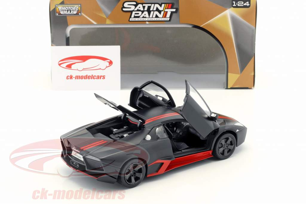 Lamborghini Reventon year 2012 mat black / red 1:24 MotorMax