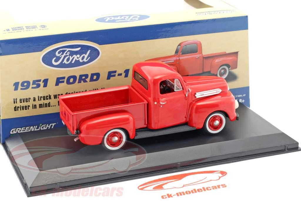 Ford F-1 Pick-Up anno di costruzione 1951 rosso 1:43 Greenlight