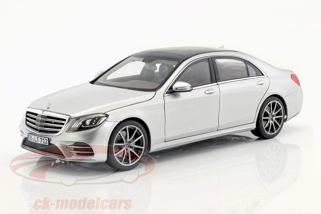Mercedes-Benz S-Class AMG-Line year 2018 silver metallic 1:18 Norev