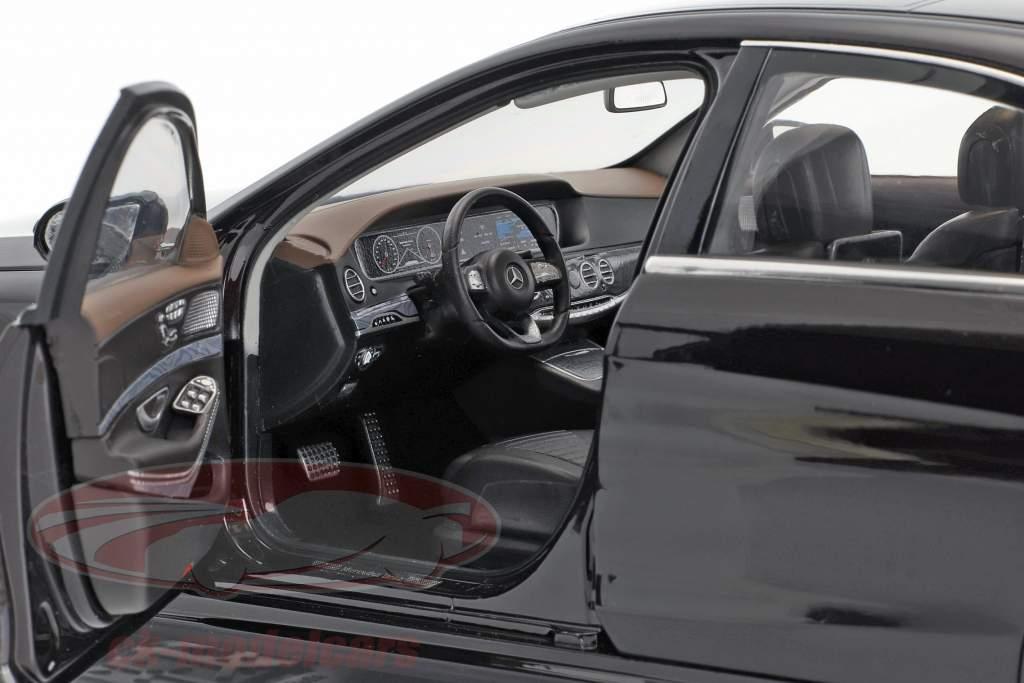 Mercedes-Benz S-Klasse AMG-Line Baujahr 2018 rubin schwarz metallic 1:18 Norev