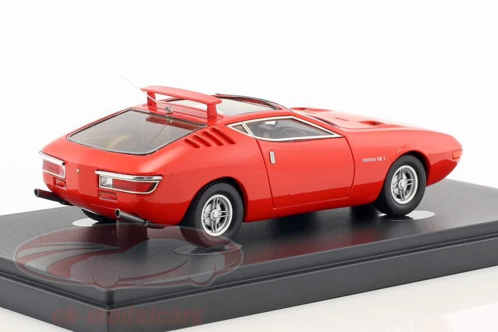 Toyota EX-1 anno di costruzione 1969 rosso 1:43 AutoCult