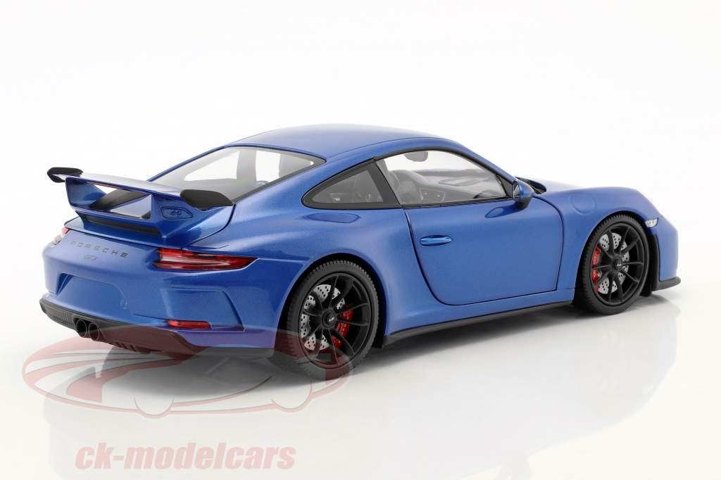 Porsche 911 (991 II) GT3 anno di costruzione 2017 blu metallico 1:18 Minichamps