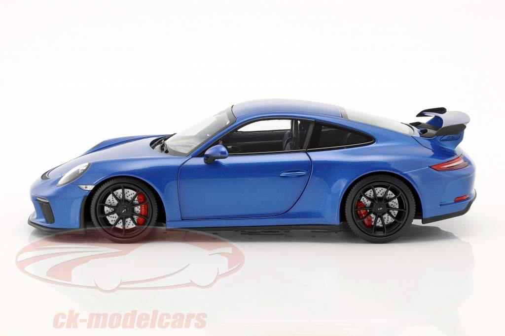 Porsche 911 (991 II) GT3 Baujahr 2017 blau metallic 1:18 Minichamps