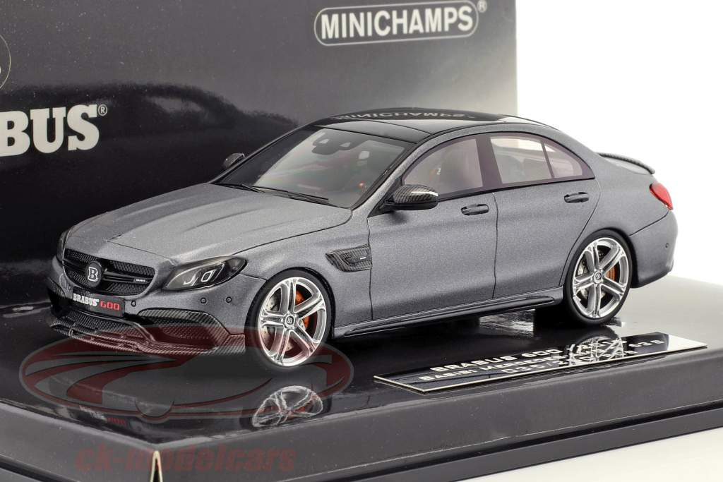 Brabus 600 Based On Mercedes Benz Amg C 63 S Year 2017 Mat Gray Metallic
