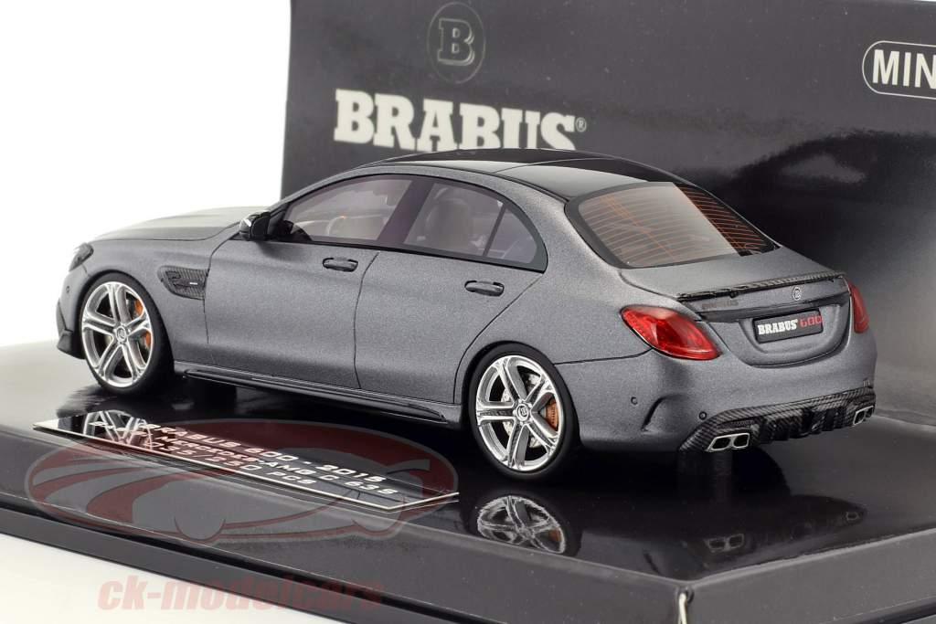 Brabus 600 auf Basis Mercedes-Benz AMG C 63 S Baujahr 2015 mattgrau metallic 1:43 Minichamps