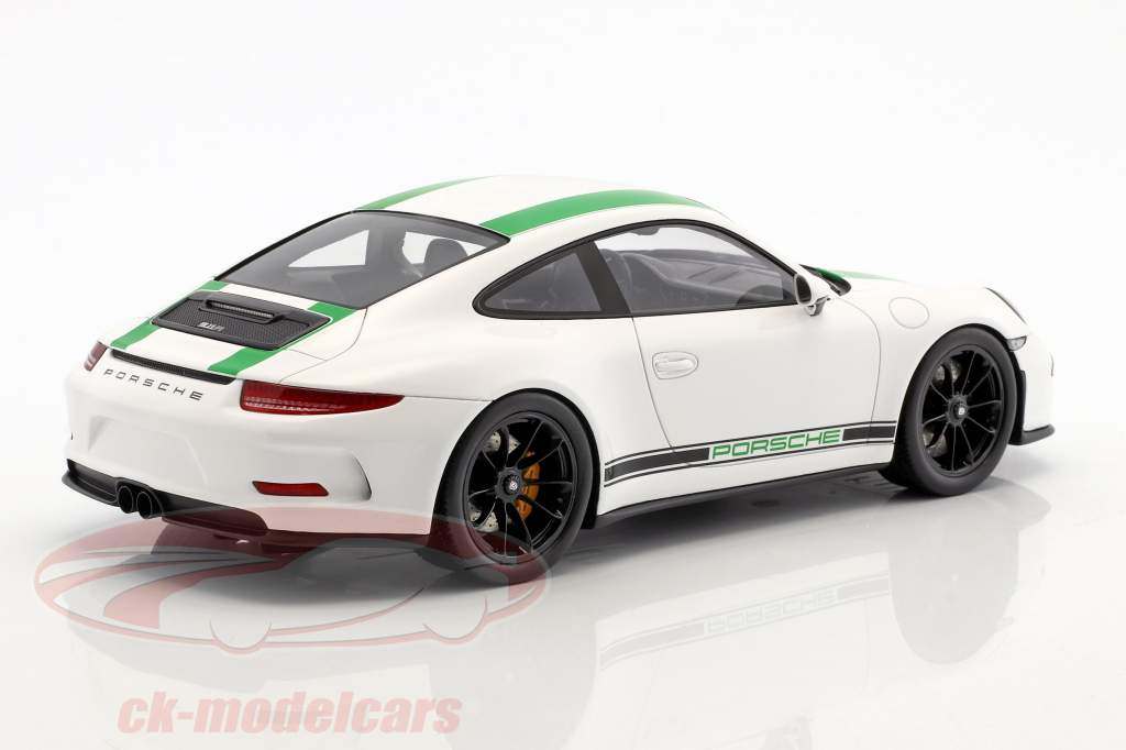 Porsche 911 R Baujahr 2017 weiß / grün 1:18 Spark