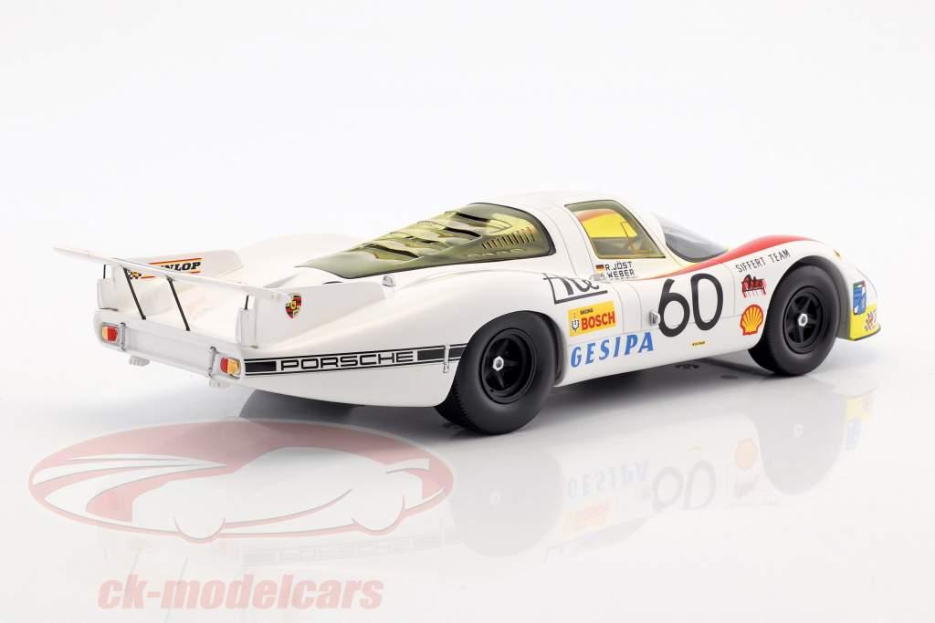 Porsche 908/01 LH #60 3 24h LeMans 1972 Joest, Weber, Casoni 1:18 Spark