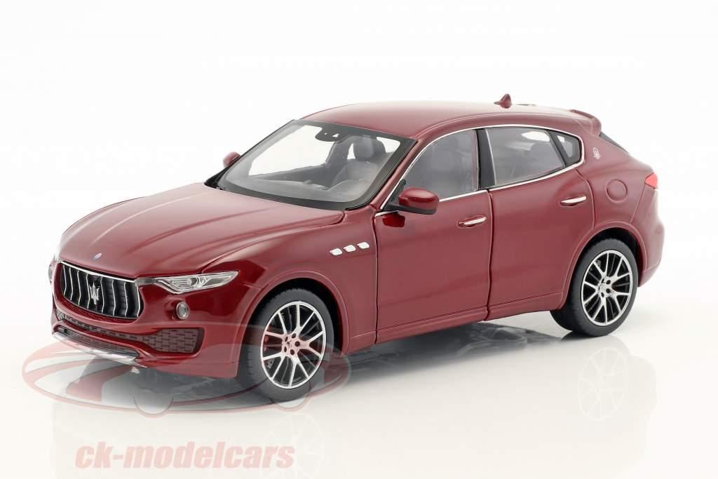Maserati Levant année de construction 2017 sombre rouge 1:24 Welly