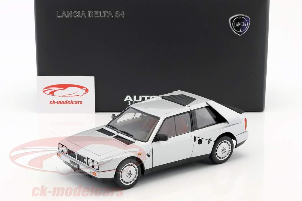 Lancia Delta S4 Ano 1985 cinza metálico 1:18 AUTOart
