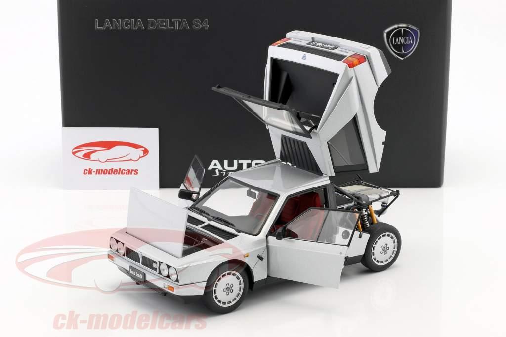 1:18 Autoart Lancia Delta s4 1985 greymetallic