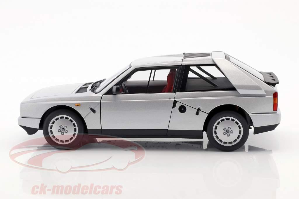 Lancia Delta S4 Jaar 1985 grijs metalen 1:18 AUTOart