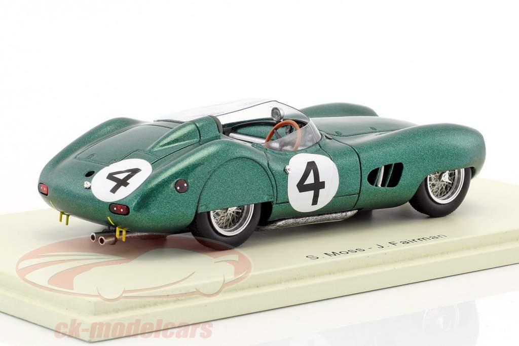Aston Martin DBR1 #4 24h LeMans 1959 Moss, Fairman 1:43 Spark