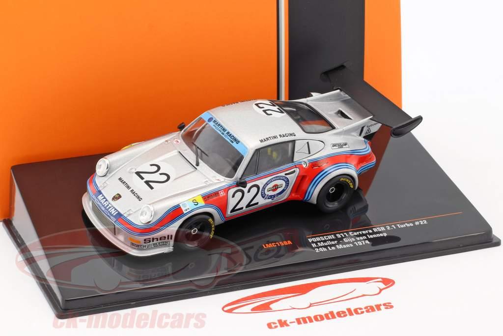 Porsche 911 Carrera RSR 2.1 Turbo #22 2nd 24h LeMans 1974 Müller, van Lennep 1:43 Ixo