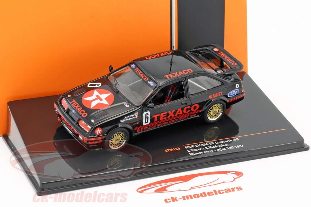 Ford Sierra RS Cosworth #6 classe vencedor Div.3 500km Dijon WTCC 1987 Soper, Niedzwiedz 1:43 Ixo