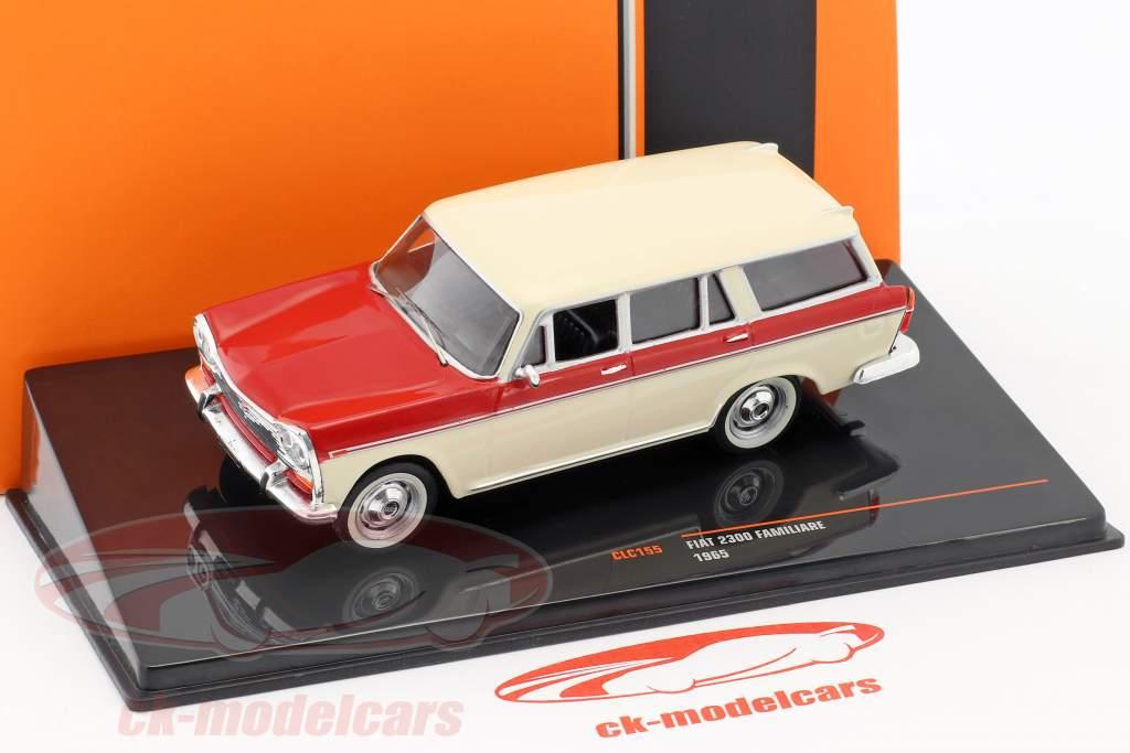 Fiat 2300 Familiare année de construction 1965 beige / rouge 1:43 Ixo