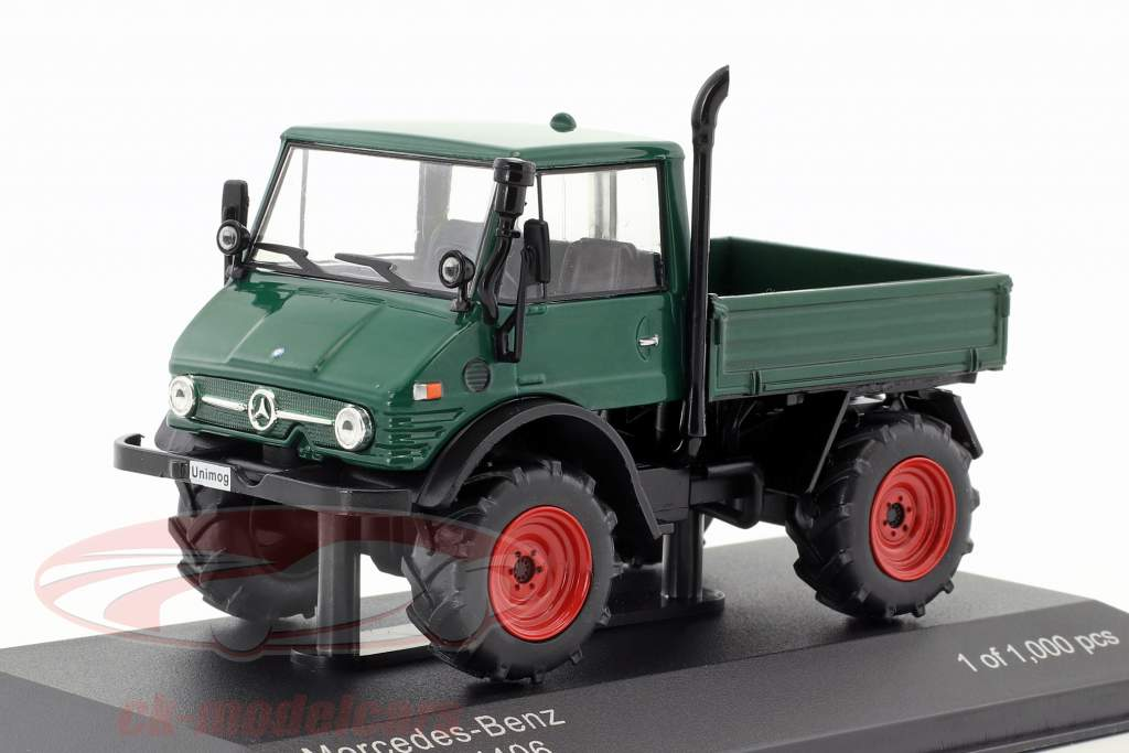 Mercedes-Benz Unimog U406 verde scuro 1:43 WhiteBox