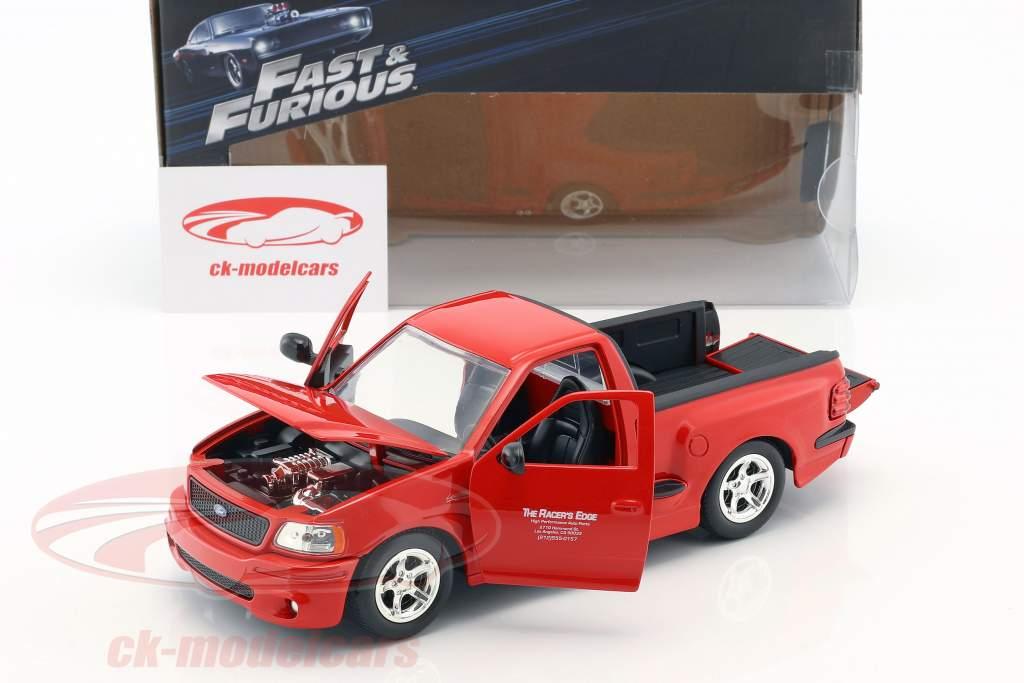 Brian's Ford F-150 SVT Lightning película The Fast & The Furious (2001) rojo 1:24 JadaToys