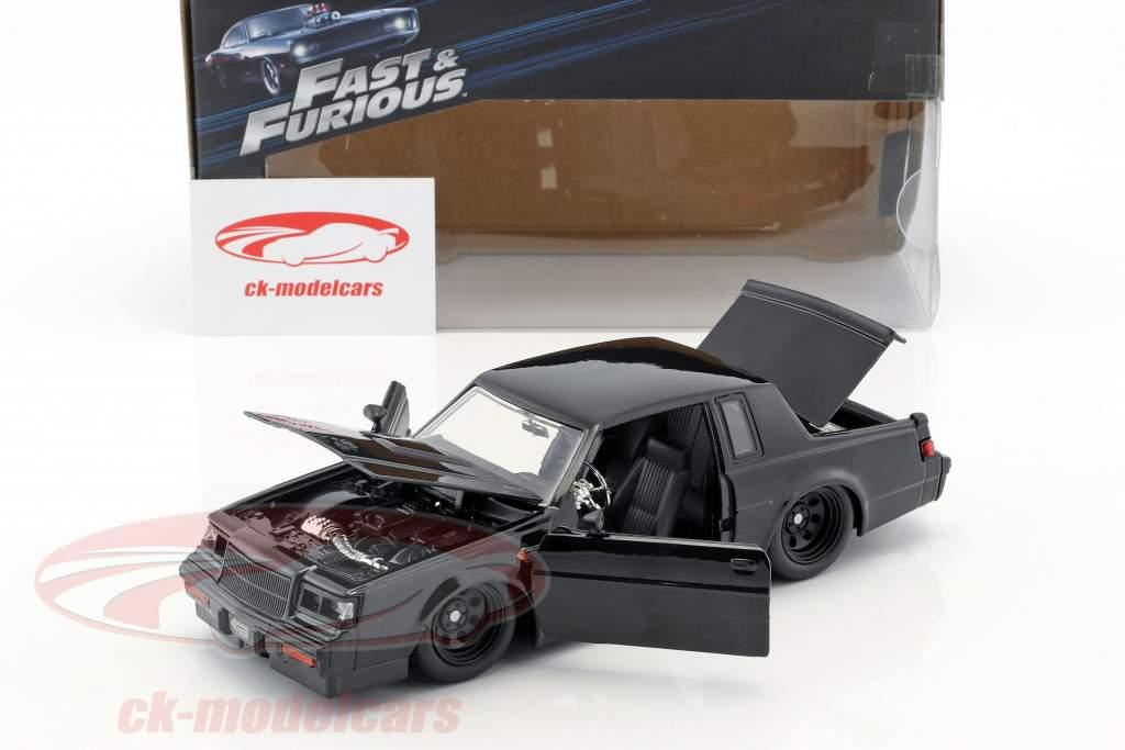 Dom's Buick Grand National Bouwjaar 1987 film Fast & Furious (2009) zwart 1:24 Jada Toys