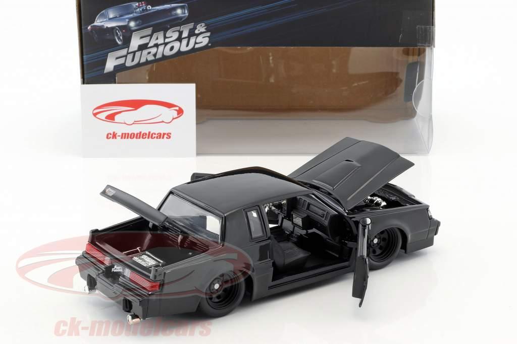 Dom's Buick Grand National año de construcción 1987 película Fast & Furious (2009) negro 1:24 Jada Toys