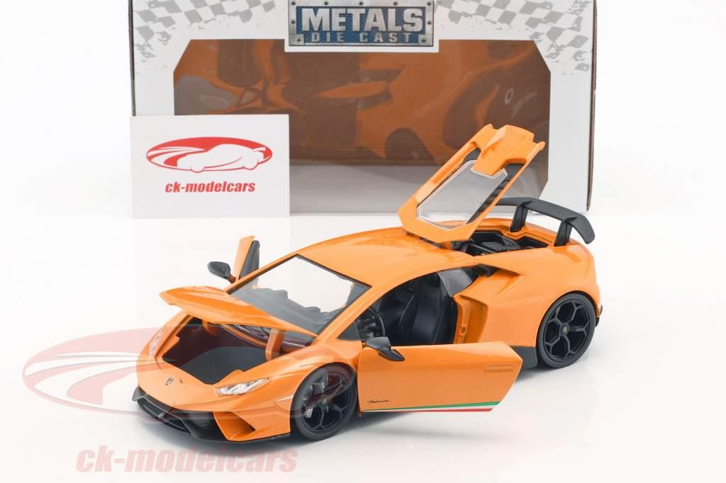 Lamborghini Huracan Performance année de construction 2017 orange 1:24 Jada Toys