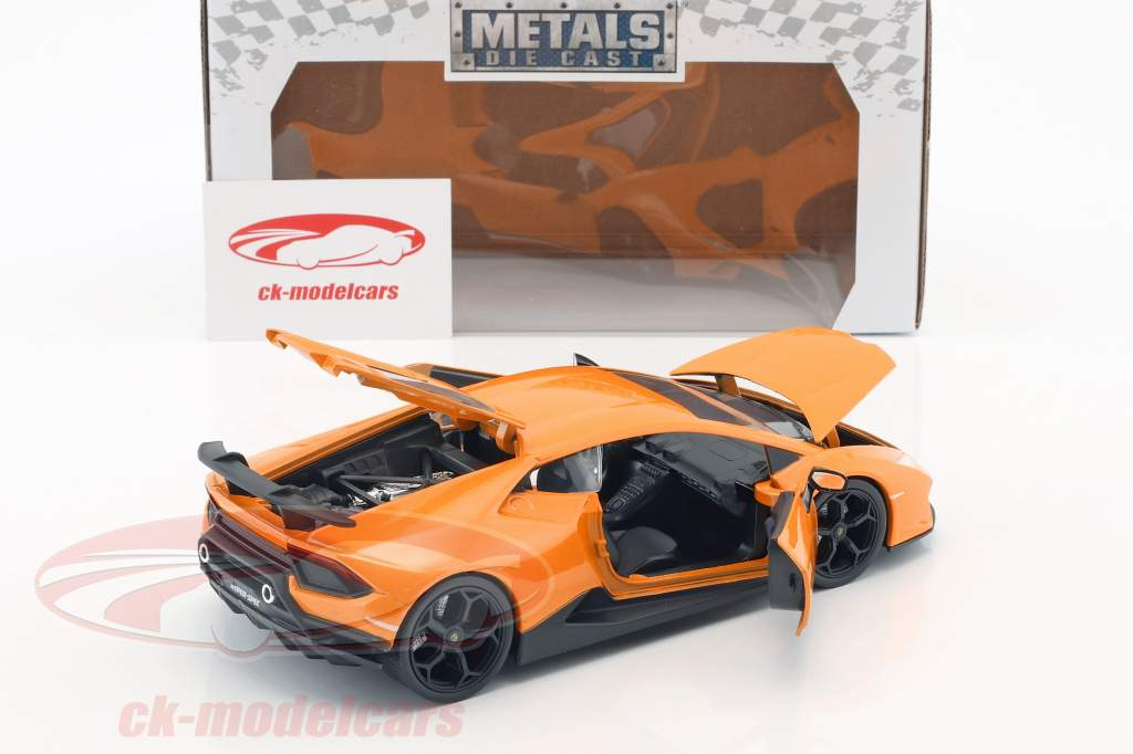 Lamborghini Huracan Performance anno di costruzione 2017 arancione 1:24 Jada Toys
